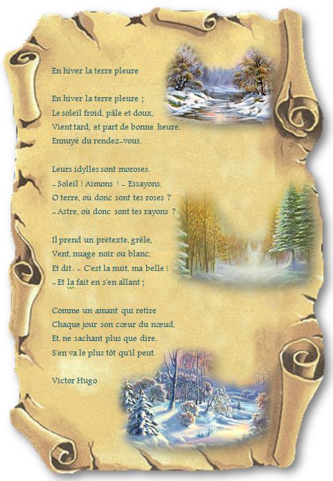 En hiver la terre pleure